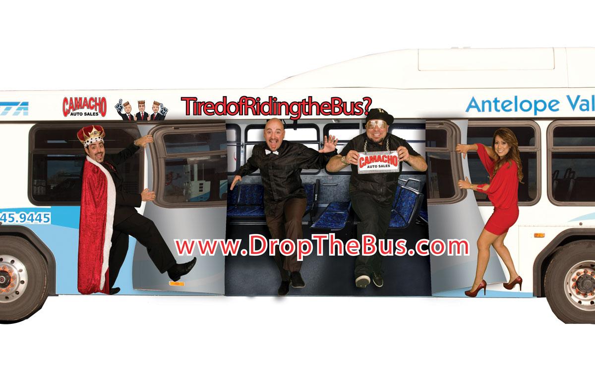Camacho Auto Sales >> Camacho Auto Sales Bus Wrap Unnaturally Geisha Studios